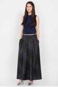 Длинная юбка в клетку Emka Fashion 427-praskovia