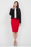 Юбка красного цвета Emka Fashion 533-rostislava