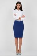 Синяя юбка-карандаш Emka Fashion 442-elpis