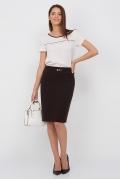 Коричневая юбка-карандаш Emka Fashion 442-labiba