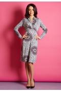 Трикотажное платье TopDesign B5 043 (осень-зима 15/16)