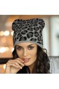 Шапка с леопардовым принтом Kamea Petra