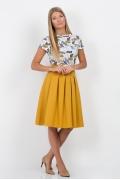 Юбка горчичного цвета Emka Fashion 552-femida