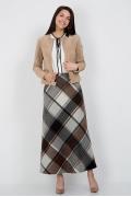 Длинная шерстяная юбка в клетку Emka Fashion 314-agnessa