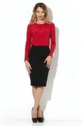 Красная блузка из тонкого трикотажа Donna Saggia DSB-31-29t