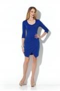 Синее платье с запАхом Donna Saggia DSP-200-37t
