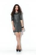 Короткое кожанное платье Donna Saggia DSP-209-74t