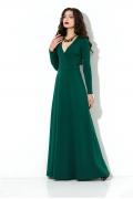 Длинное зелёное платье Donna Saggia DSP-206-44t
