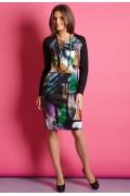 Трикотажное платье TopDesign B5 095