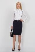Тёмно-синяя юбка Emka Fashion 544-olesya