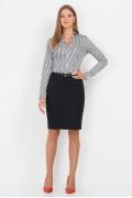 Иссиня-чёрная юбка Emka Fashion 560-dorofeya