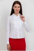 Белая блузка рубашечного кроя Emka Fashion b 2109/dulma