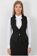Чёрный офисный жилет Emka Fashion GL-004/almaza