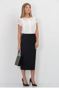 Иссиня-чёрная юбка Emka Fashion 501-dorofeya