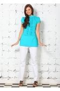 Бирюзовая блузка из 100% хлопка | 4626