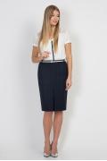 Сине-чёрная юбка Emka Fashion 545-laura