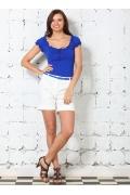 Летняя блузка василькового цвета | 4625