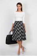 Чёрно-белая юбка Emka Fashion 526-pina