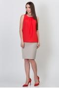 Бежевая юбка Emka Fashion 202-60/leontiya