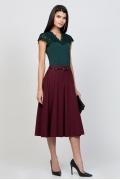 Юбка бордового цвета Emka Fashion 525-miranda
