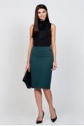 Тёмно-зеленая офисная юбка Emka Fashion 369-felixa