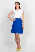 Летняя юбка синего цвета Emka Fashion 585-rendi