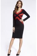 Чёрно-красное платье Ennywear 200055
