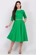 Летнее платье зеленого цвета Emka Fashion PL-407/solo
