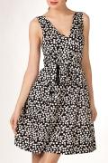 Летнее черно-белое платье | П100-954