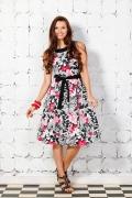 Женственное платье с цветами | 1604