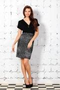 Комбинированное платье Remix | 1614/1