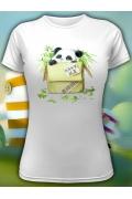 Женская футболка с пандой Save me