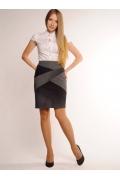 Чёрно-белая юбка Emka Fashion | 234-lara