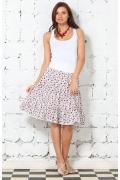 Белая юбка в мелкий цветок | 2565
