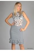 Светло-серая юбка Emka Fashion | 253-beatris