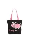 Чёрная сумка с розовой свинкой | ДМ-1243