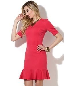Коралловое коктейльное платье Donna Saggia DSP-31-30t