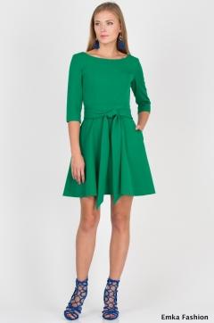Летнее платье зелёного цвета Emka Fashion PL-411/sanremo