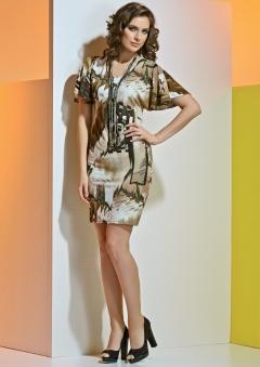 Летнее трикотажное платье TopDesign A4 042