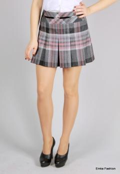 Модная мини-юбка в клетку | 219-37/dorothy