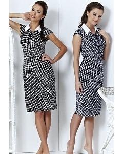 Стильное платье с рубашечным воротником | A3 039