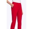 Красные женские брюки слегка зауженные к низу Emka D068/amour