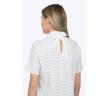 Летняя белая блузка в коричневый горошек Emka B2237/moema