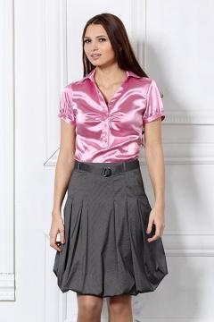 Лиловая женская блузка