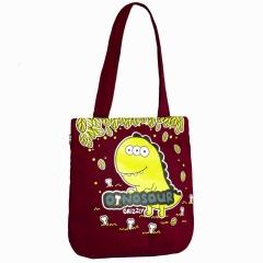 Бордовая сумка с динозавром Grizzly   ДМ-1244