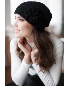 Женская шапка чёрного цвета Landre Сонет