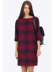 Платье в клетку Emka Fashion PL-519/floretta