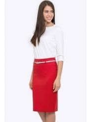 Красная юбка-карандаш Emka Fashion 202-60/aglaya