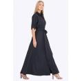 Длинное платье-рубашка Emka PL-596/alona