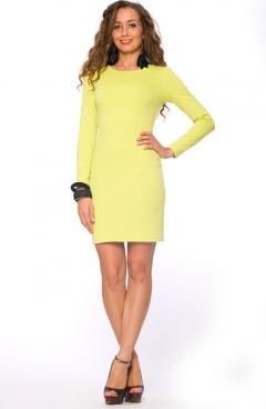 Короткое лаймовое платье | DSP-65-32t